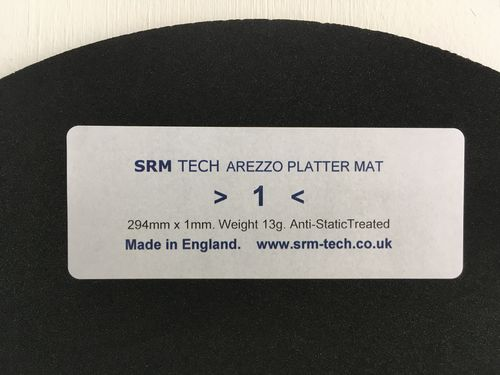 1mm Arezzo Platter Mat - Offer Free £19 Platter Damper