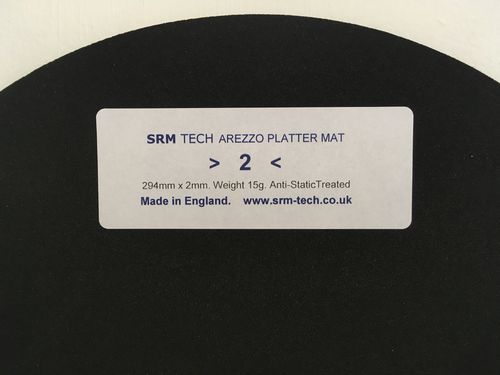 2mm Arezzo Platter Mat - Offer Free £19 Platter Damper
