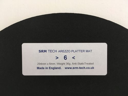 6mm Arezzo Platter Mat - Offer Free £19 Platter Damper