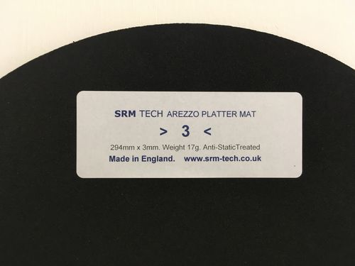 3mm Arezzo Platter Mat - Offer Free £19 Platter Damper
