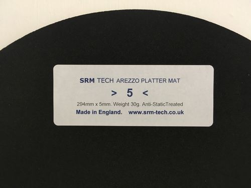 5mm Arezzo Platter Mat - Offer Free £19 Platter Damper